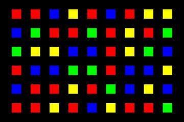 Nested | Center | 06x06 | N=01 | Random #01 | RGBY van Gerhard Haberern