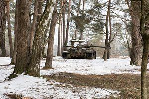 Urbex - Tank in de sneeuw van