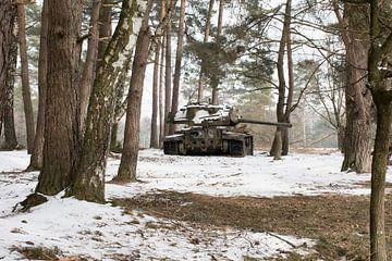 Urbex - Tank in de sneeuw