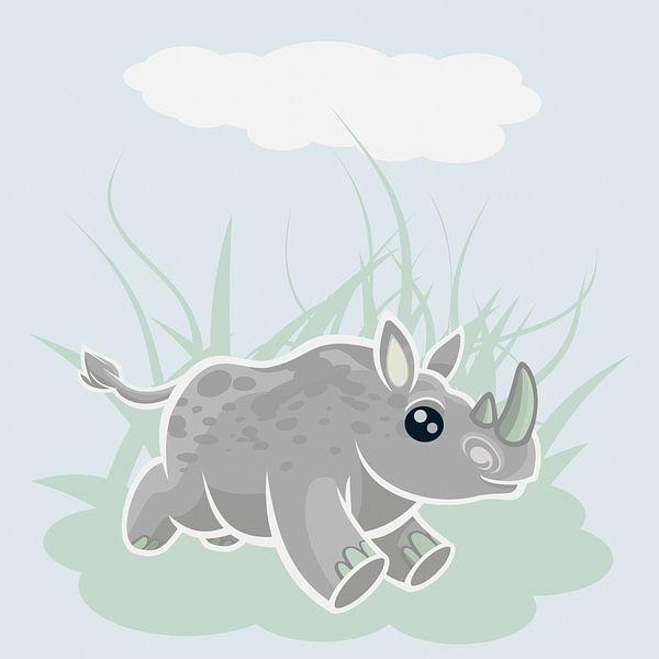 Rhino galopperen van Marion Tenbergen