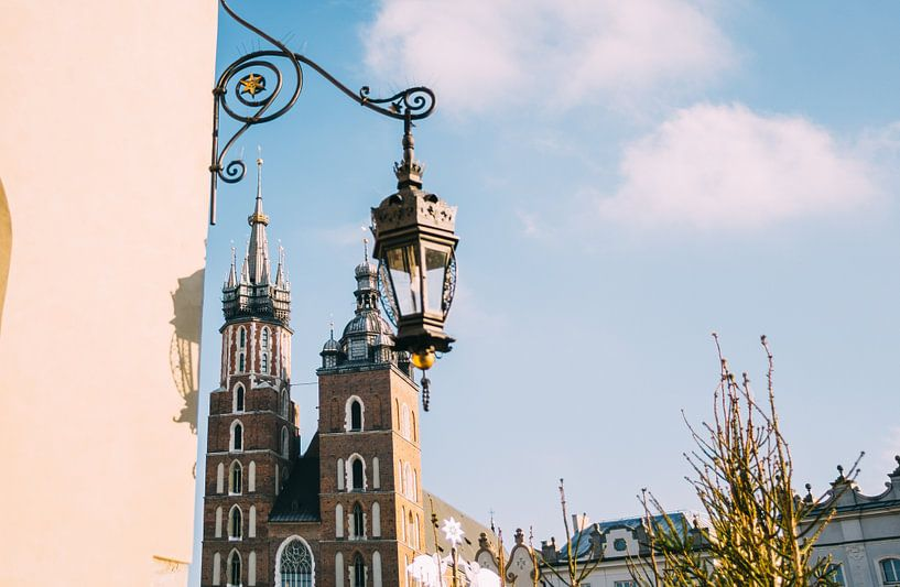 Krakau in Winter van Patrycja Polechonska