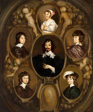Constantijn Huygens und seinen fünf Kindern, Adriaen Hanneman