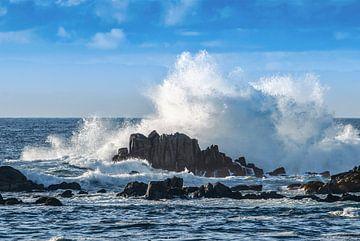 Smashing Wave in Monterey_USA_landscape von