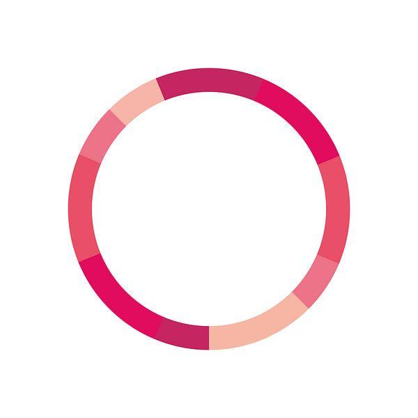 Monochrome Schéma de couleurs Rose sur MDRN HOME
