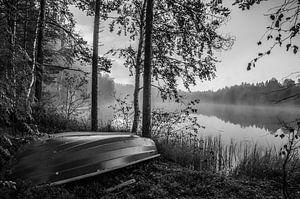 """""""Mysterieus meertje"""" nabij Tahko, Finland. van"""