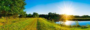 Zonsondergang bij de Hase in Emsland