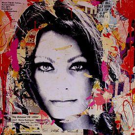 Sophia Loren during autumn van Michiel Folkers