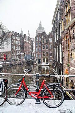 Amsterdam Winter Oudezijds Voorburgwal van Hendrik-Jan Kornelis