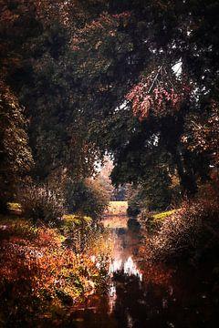 Wassermühlenbach im Herbst (Gemälde) von Art by Jeronimo