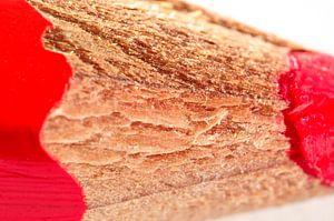 Macrofoto van een rood potlood