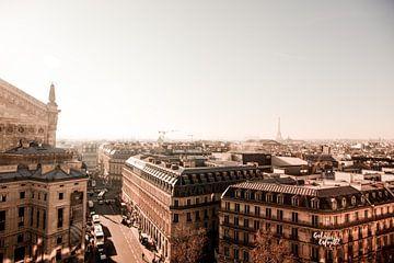 Vue sur Paris - Skyline sur Stefanie van Beers