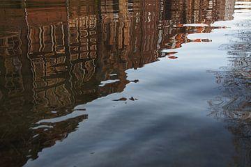 Spiegeling in het water van Marjon van Vuuren