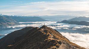 Silhouet op Roy's Peak
