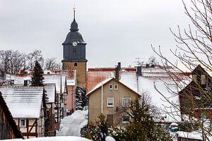 Der Kirchturm von Herleshausen