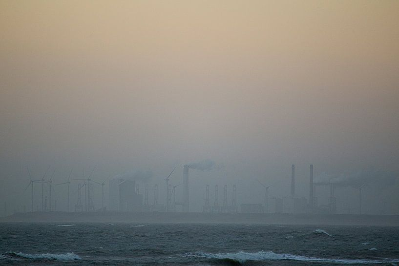 Dutch beach in the fog von Paul Teixeira