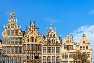 Gevels aan de Grote Markt in Antwerpen von Dennis van de Water