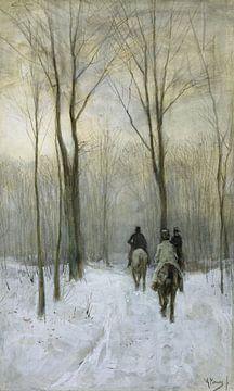Reiter im Schnee des Waldes von Den Haag – Anton Mauve