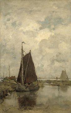 Navires par temps gris, Jacob Maris