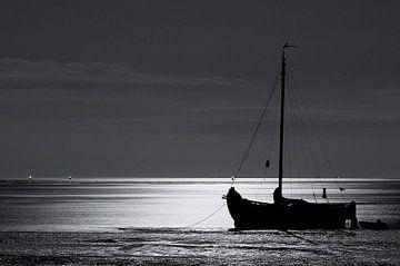 Wad bij nacht van Albert Wester Terschelling Photography