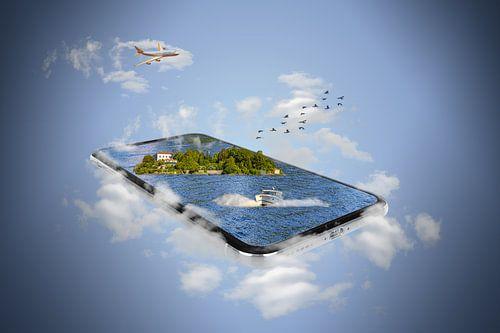 Isola Madre/Italien - Smartphone Manipulation von