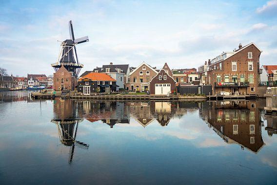 Molen in Haarlem in de winter van Michel van Kooten