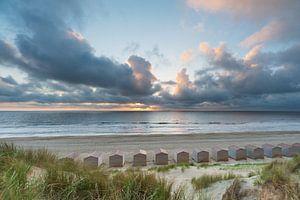 Zonsondergang Noordzee Texel van LYSVIK PHOTOS