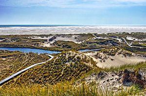 Duinen en strand op Noordzee-eiland Amrum