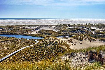 Duinen en strand op Noordzee-eiland Amrum van Frans Blok