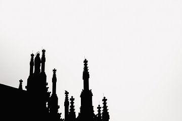 Blick auf Details St. John's Cathedral in Den Bosch von mooidenbosch