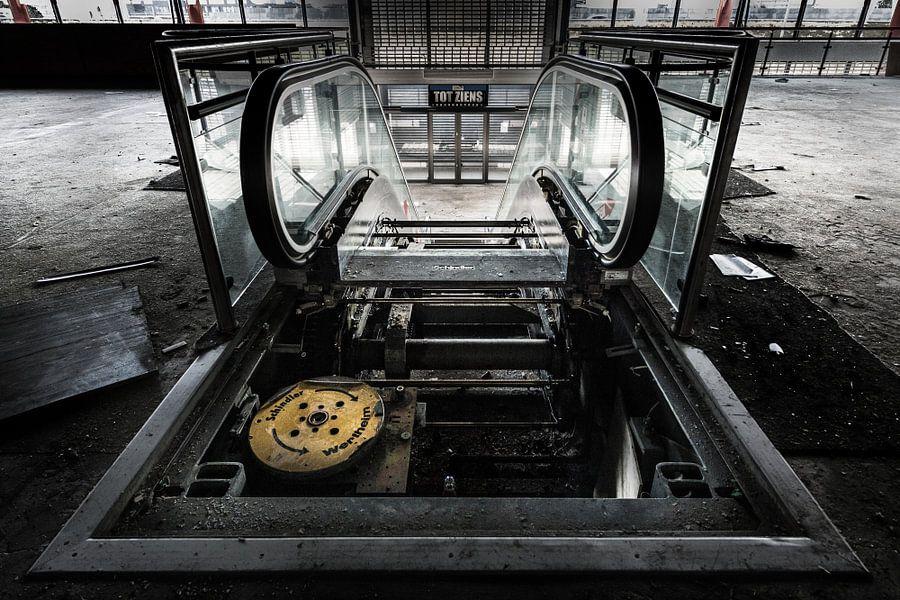 Inside the escalator