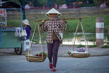 Marktverkoop Vietnam van Bram de Muijnck