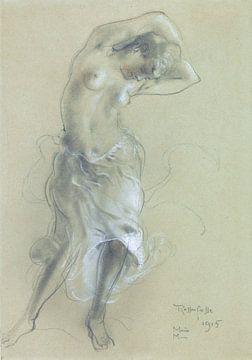 Tanzende halbnackte Frau, Armand Rassenfosse, 1915 von Atelier Liesjes