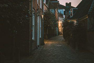 Straße in den Amersfoorter Mauerhäusern von Michiel Dros