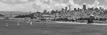 San Francisco Skyline | Monochroom van Melanie Viola