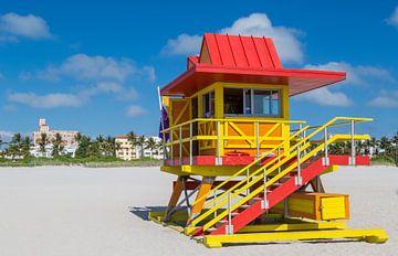 Miami Beach Rettungsturm von Peter Leenen