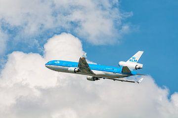 KLM McDonnell Douglas MD-11 vliegtuig in de lucht van Sjoerd van der Wal