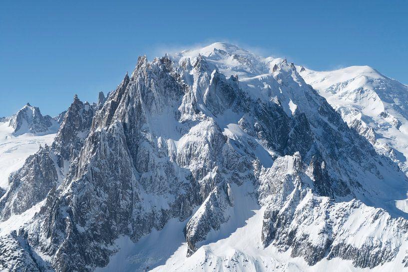 Mont Blanc, der höchste Berg der Alpen von Menno Boermans