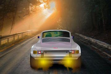 Porsche 911 S Carrera T Oldtimer Rennwagen Motorsport digital art von Mike's Motivfabrik
