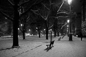 Karl-Marx Allee, Berlijn in de sneeuw van Maurice Moeliker