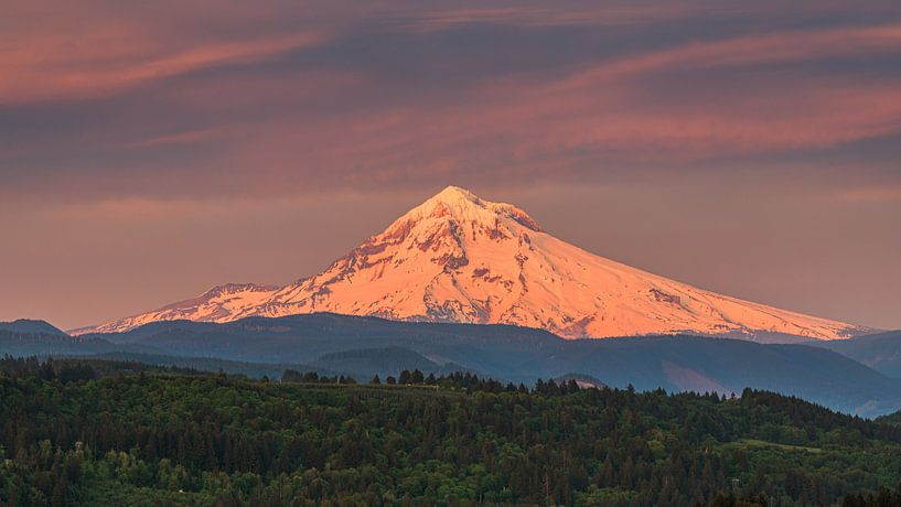 Sonnenaufgang Mount Hood, Oregon von Henk Meijer Photography