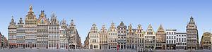 Antwerpen Grote Markt Panorama van