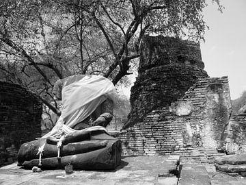 Black & White Buddha von Misja Vermeulen
