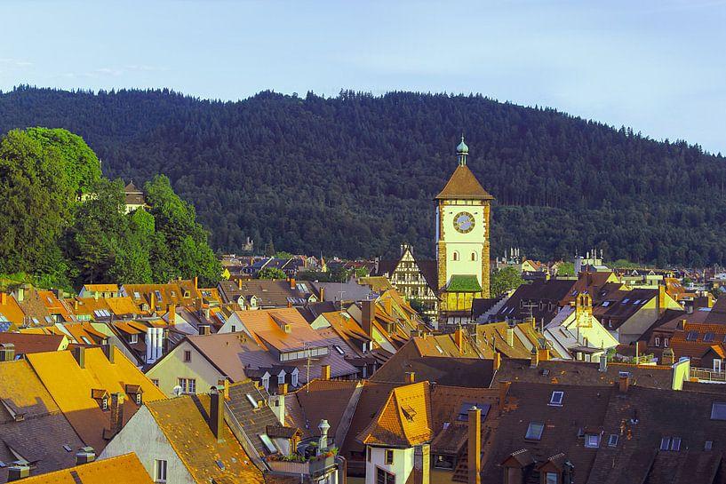 Oude binnenstad Freiburg van Patrick Lohmüller