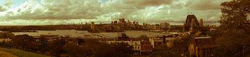 Nostalgic Sydney Harbour Panorama-2 van Tessa Louwerens