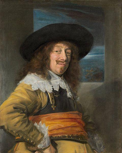 Portret van een lid van de Burgerwacht Haarlem, Frans Hals van Meesterlijcke Meesters