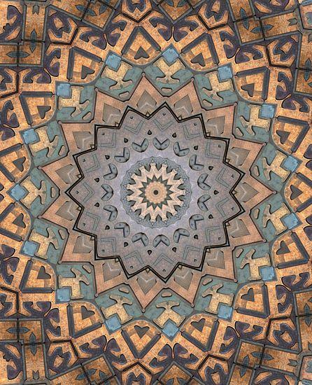 Kaleidoscoop Letters II van Bright Designs