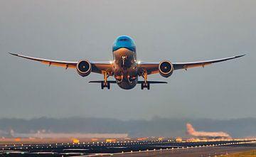 Le KLM 787 décolle sur hugo veldmeijer