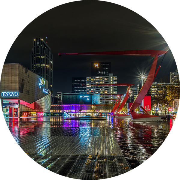 Het Schouwburgplein in Rotterdam van MS Fotografie   Marc van der Stelt