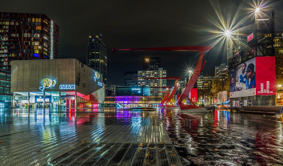 Het Schouwburgplein in Rotterdam