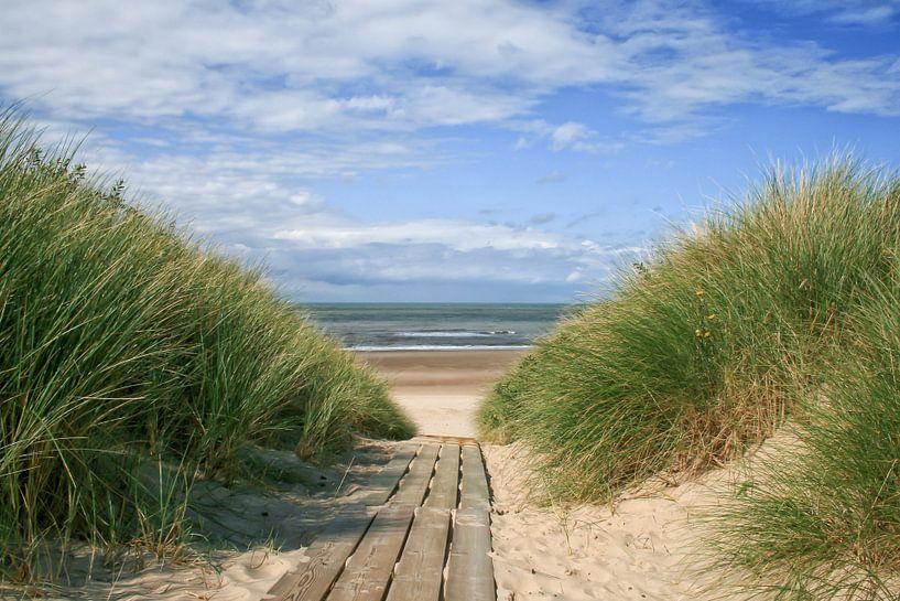 Strandopgang - Strandovergang  van Zeeland op Foto